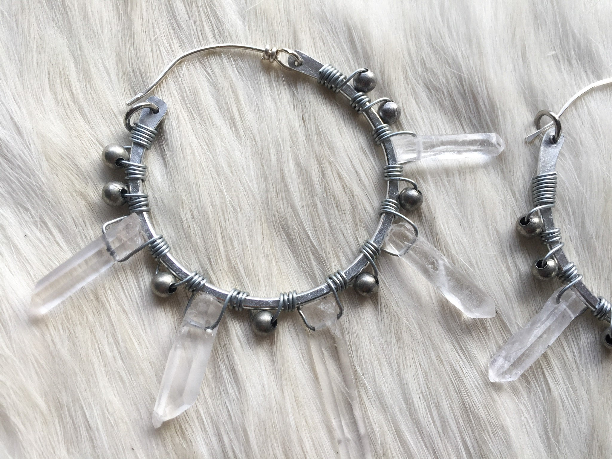 Crystal spike hoops