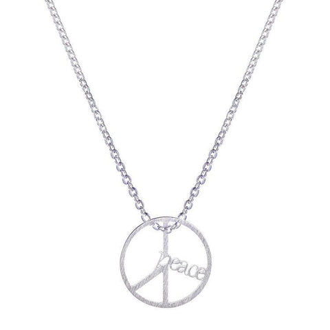 Necklace - Peace Letters Necklace