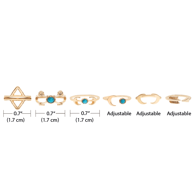 Rings - Golden Boho Ring Set