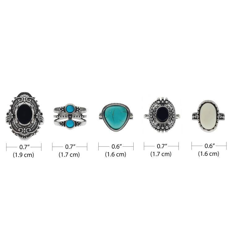 Rings - Stone Ring Set