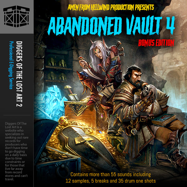 Abandoned Vault 4 Sample Pack - Boom Bap Labs