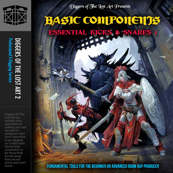 Basic Components Essential Kicks & Snares 1 - Boom Bap Labs