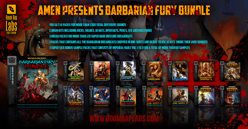 Barbarian Fury Bundle by Amen