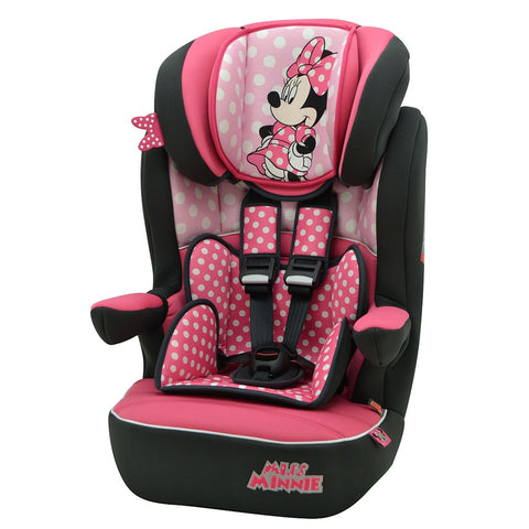 Mothercare Disney Minnie Mouse IMax SP High Back Booster Car Seat with Harness