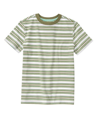 Crazy8 Striped Round Neck T-Shirt - Green