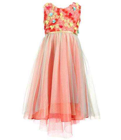Rare Editions Sleeveless Orange Dress