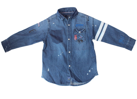 Next denim blue shirt