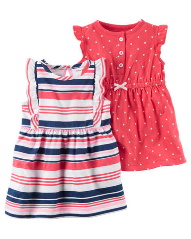 Carter's 2 Pack Dress Set - Pink Polka