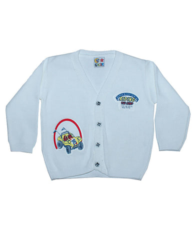 white riding the sand 'sweater' for boys