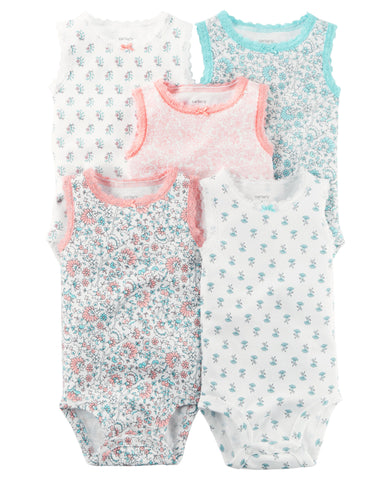 Carter's 5-Pack Sleeveless Original Bodysuits
