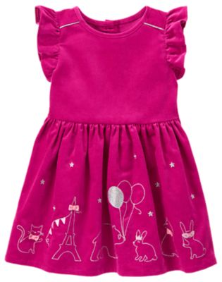 Gymboree Fuschia Embroidered Animal Dress