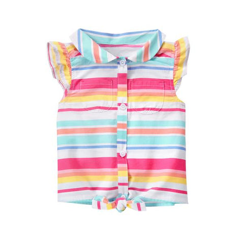 Gymboree Stripe Front Tie Top