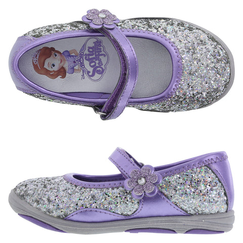 Sofia The First Girls Glitter Shoes