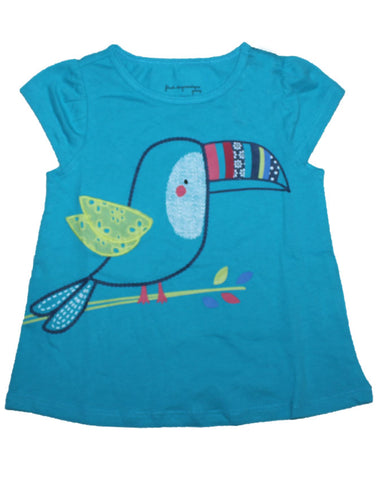 1st impression 'little bird'blue girl top