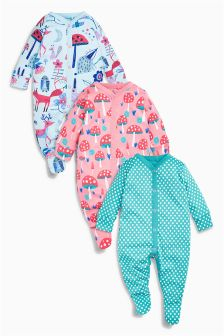 Next Baby Girl 3 Pack Sleepsuits