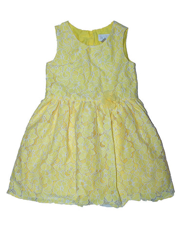 The Children Place Yellow Lace Dress