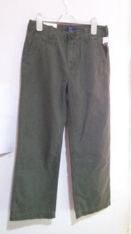 Gap Kids Straight Fit Chinos Trousers - Army Green