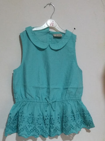 Next Girl Cotton Lace Peplum Dress