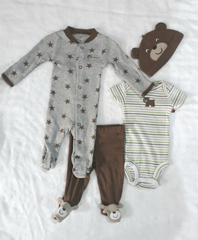Carters 4 Pack Baby Layette Set