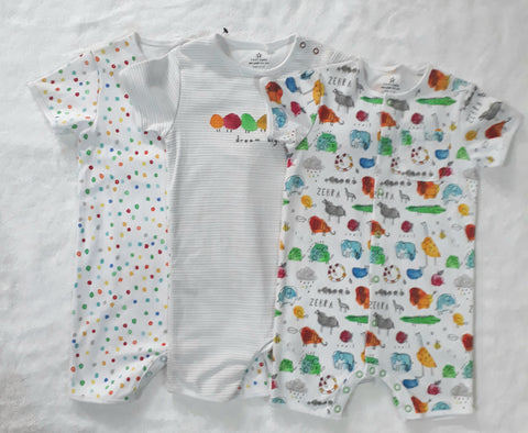 Next 3 pack Cotton Rompers