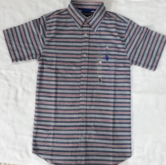 USPA Short Sleeve Striped Shirt