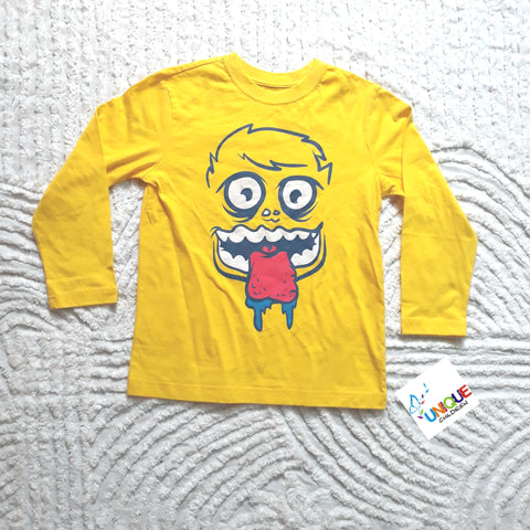 Yellow Long Sleeve  Boys Top