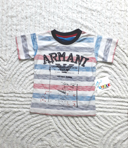 Armani Stripe Boys Tee