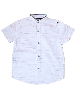 Next Signature Bishop Collar Shirt - Cream