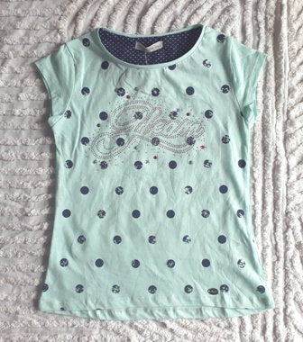 Polka Dot Glitter Mint T-Shirt