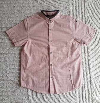 Next Signature Bishop Collar Shirt - Pink