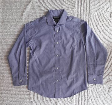 Dockers Long Sleeve Striped Purple Shirt - 8 yrs