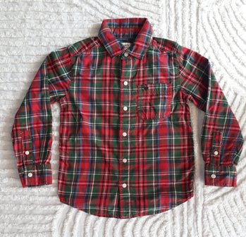 Carter's Plaid Red Long Sleeve Shirt