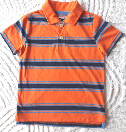 Arizona Striped Orange Polo Shirt