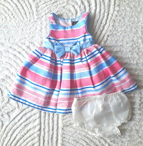 Lilt Striped Special Occasion Dress - Pink/Blue