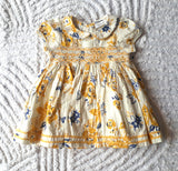 Next Baby Cotton Floral Yellow Dress