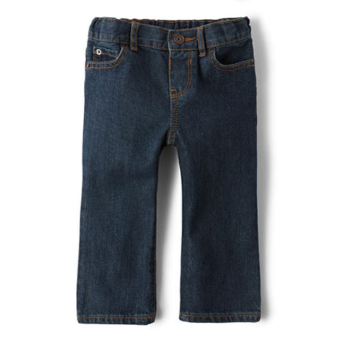 Children's Place Baby And Toddler Boys Basic Straight Jeans - Retro Vintage Wash