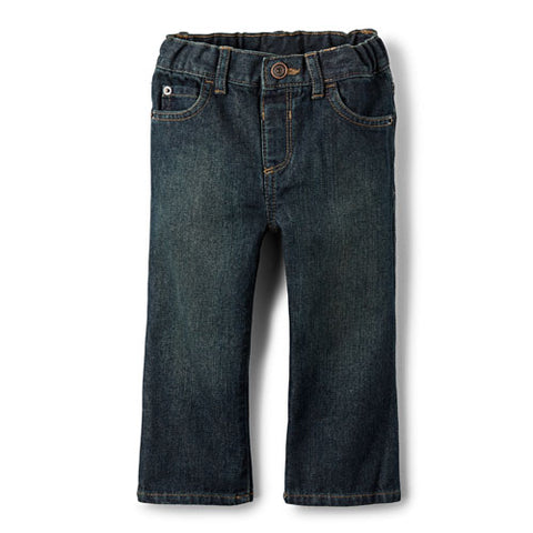 Children's Place Toddler Boys Basic Bootcut Jeans - Dry Indigo
