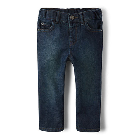 Children's Place Baby And Toddler Boys Basic Skinny Jeans - Deep Blue Wash