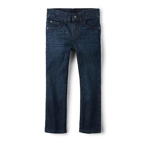 Children's Place Boys Basic Straight Jeans - Deep Blue Wash