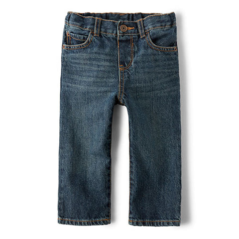 Children's Place Baby And Toddler Boys Basic Straight Jeans - Dark Jupiter Wash
