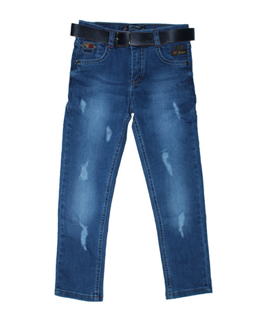 Musti Boys Rag Jeans With Belt
