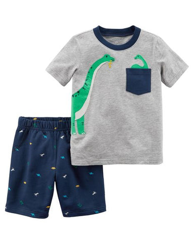 Carter's Baby Boy Giraffe 2 Pc Short Set