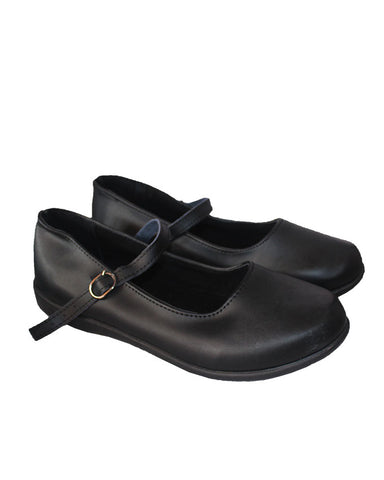 Girls Black School Shoe