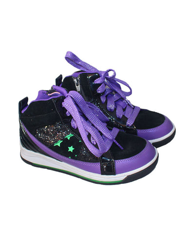 Clark Girls Black And Purple High Tops