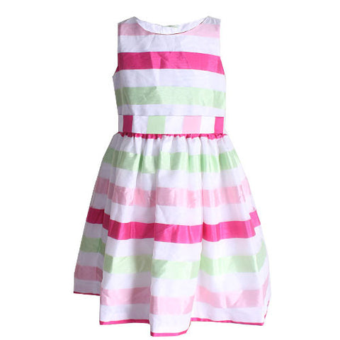 Gymboree Pink & White Striped Holiday Dress