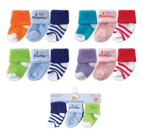 Luvable Friends Infant Socks Gift Set