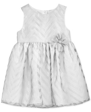 Marmellata Baby Girl's Shadow Stripe Dress