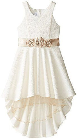 Bonnie Jean high-low dress - Cream