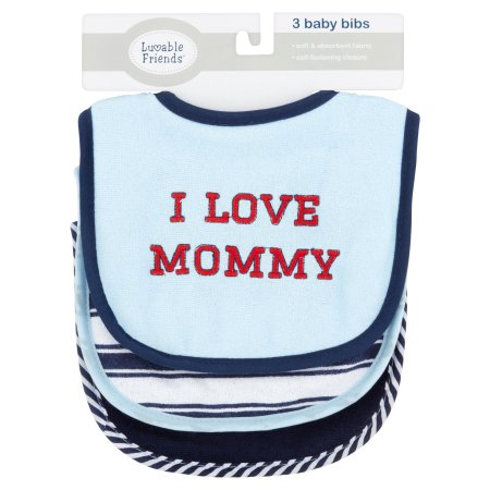 Luvable Friends I Love Mommy 3 Pack Bibs