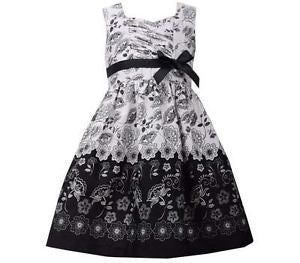 Bonnie Jean Black & White Cotton Dress - uniquechildren